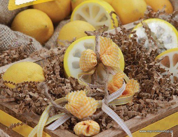 Μπομπονιέρα Βάπτισης (Soap Tales) σαπουνακι κουκουβάγια  λεμονακι