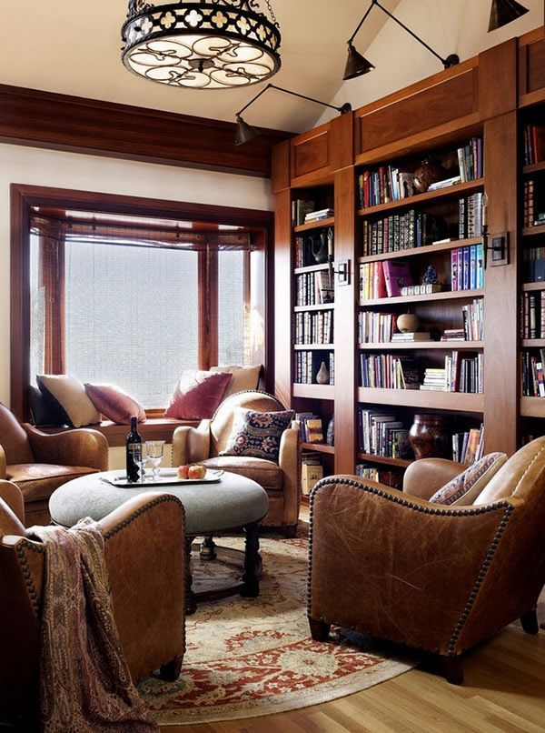 Best Cozy Home Library Ideas On Pinterest Home Libraries