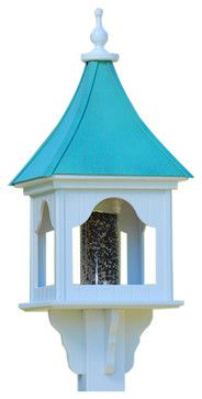Square Gazebo Bird Feeder traditional-bird-feeders