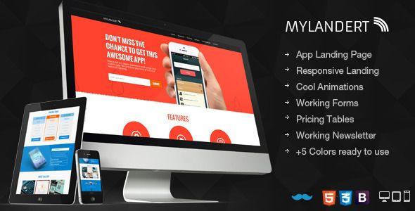 My Landert - App Responsive Landing Page | #webdesign #it #web #design #layout #userinterface #website #webdesign
