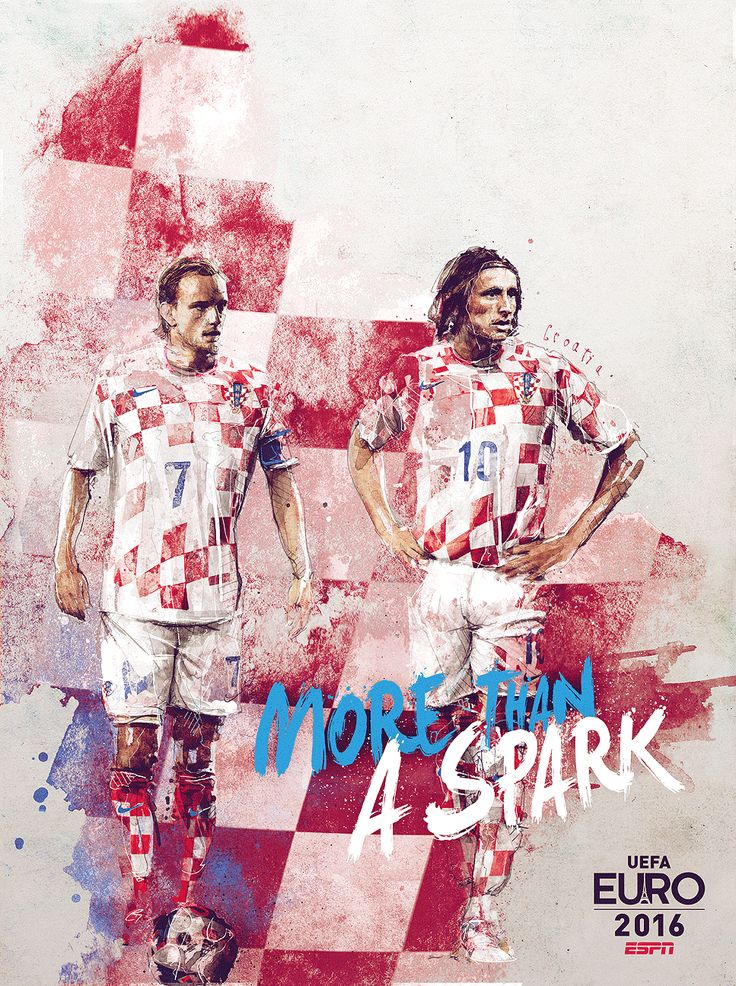 ESPN commissioned French artist Florian Nicolle to create 24 team posters to celebrate the 2016 European Championships.