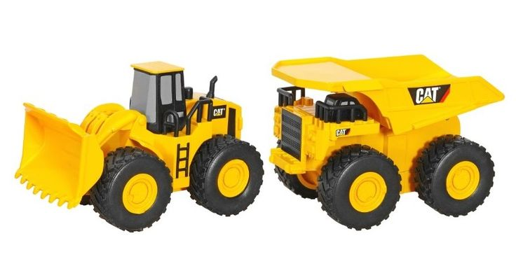 Imagine the fun your little guy can have with these toys at the beach or in the sandbox. The bright yellow Caterpillar signature colors make it easy to spot so they won't get left behind. The dump truck actually dumps so he can fill it up and dump it over and over for hours of fun.