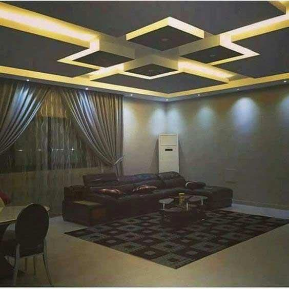 step by step to make false ceiling design with lighting ...