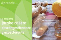 Aprende a preparar un jarabe casero descongestionante y expectorante para promove la expulsión de las secreciones nasales y bronquiales acumuladas