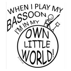 Bassoon Own World Poster