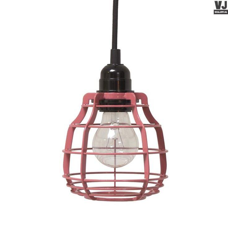 HK living online webwinkel, gratis verzenden HK-living lab lamp marsala rood hanglamp + plafondkapje Ø 13 cmVAA1091P by Villa Jipp