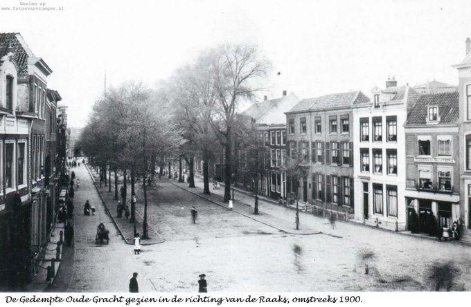 Gedempte Oude Gracht in de richting van het Raaks in 1900 - Serc
