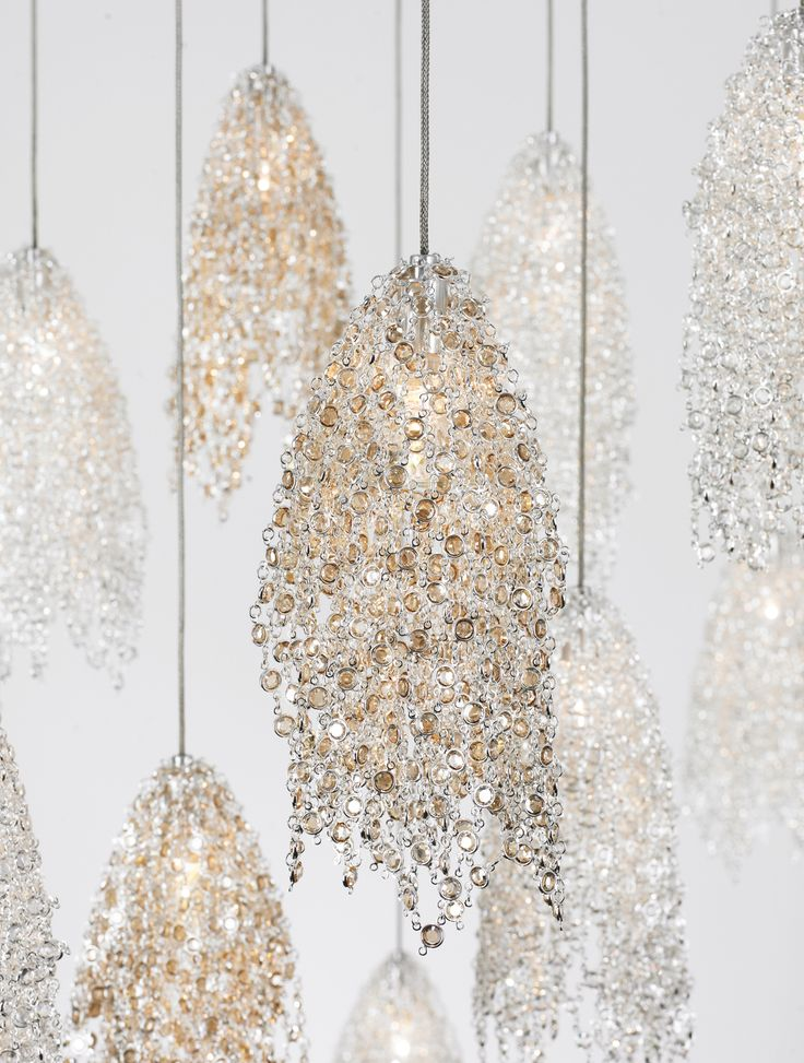 Double layers of Swarofsky Crystals hanging chandelier