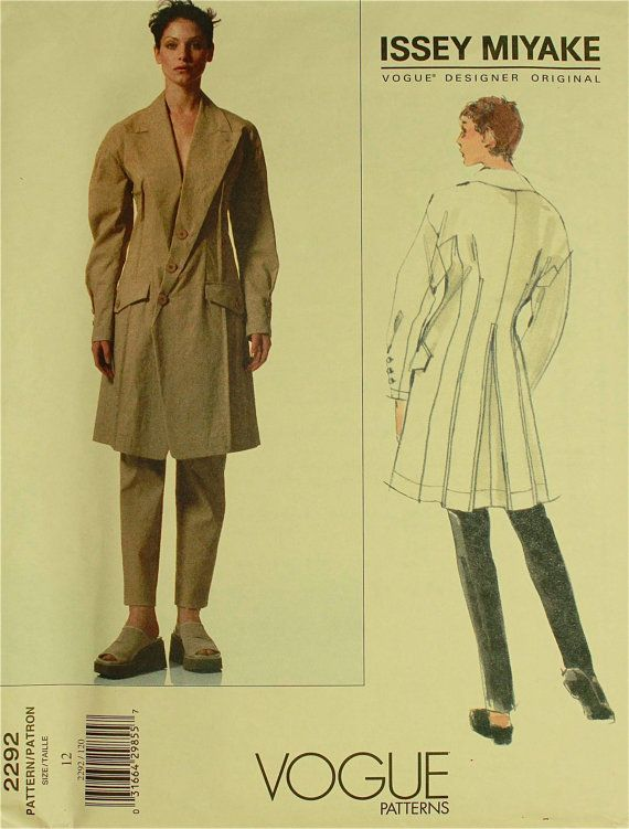 Jacket & Pants  by Issey Miyake 1980's  Vogue by patterntreasury, $39.95