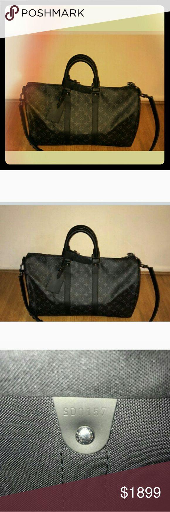 Nwt louis vuitton keepall 45 Brand new Louis Vuitton Keepall Monogram Eclipse size 45 Dated 2017 Louis Vuitton Bags Travel Bags