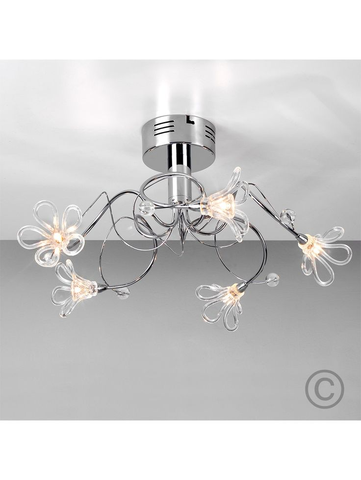 Designer lighting for less free delivery on orders over chrome daisy ceiling light with clear glass buy discounted designer lighting from valuelights