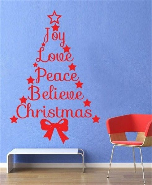 35 best images about 2013 christmas wall art on pinterest christmas trees signs and children - Christmas wall decorations ...
