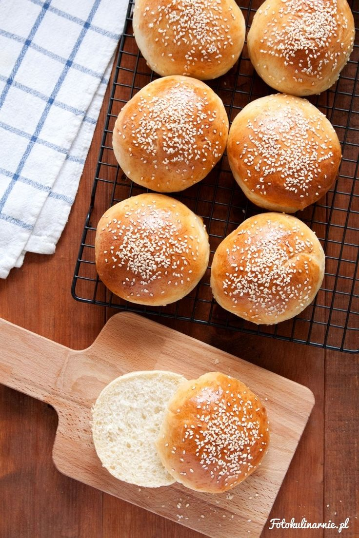 Homemade Perfect Hamburger Buns.