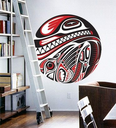 Streetwallz - Haida Art Wall Decal, $90.00 (http://www.streetwallz.com/haida-art-wall-decal/)