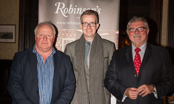 Robinson's M.D. Robin Stewart alongside David Meade and Jim Neilly