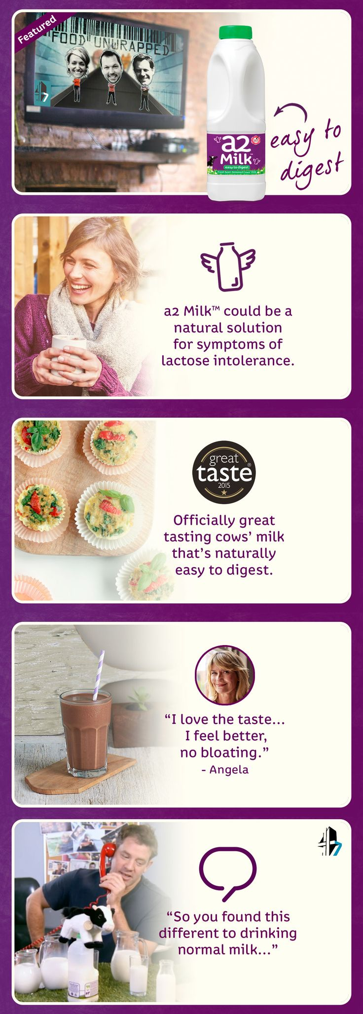 Channel 4's Food Unwrapped discover a natural cows' milk that doesn't trigger symptoms of lactose intolerance in many.