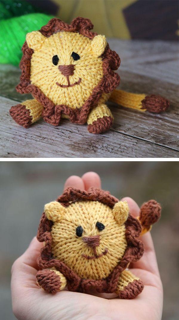Knitting Pattern for Lion Amigurumi - Cuddly lion toy ...
