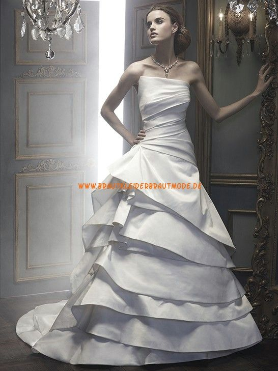 Neuer Stil Brautmode berlin kaufen online aus Satin Ballkleid mit Schleppe
