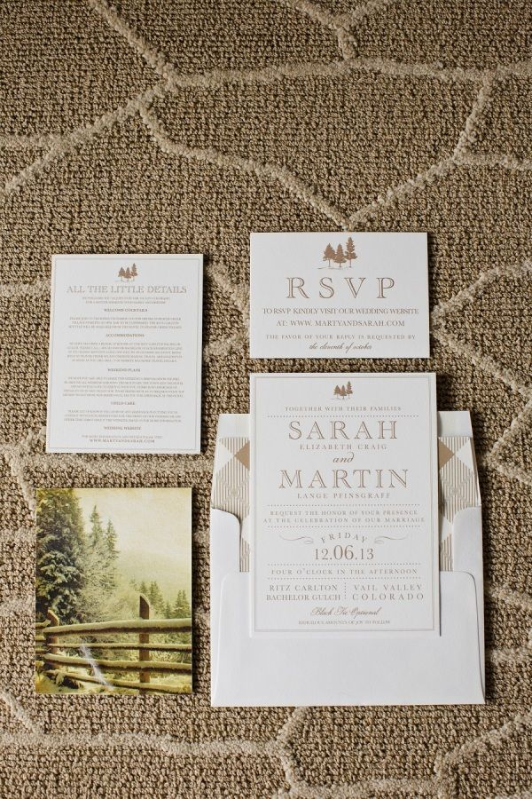 12 best Wedding Invitations images on Pinterest Mountain wedding