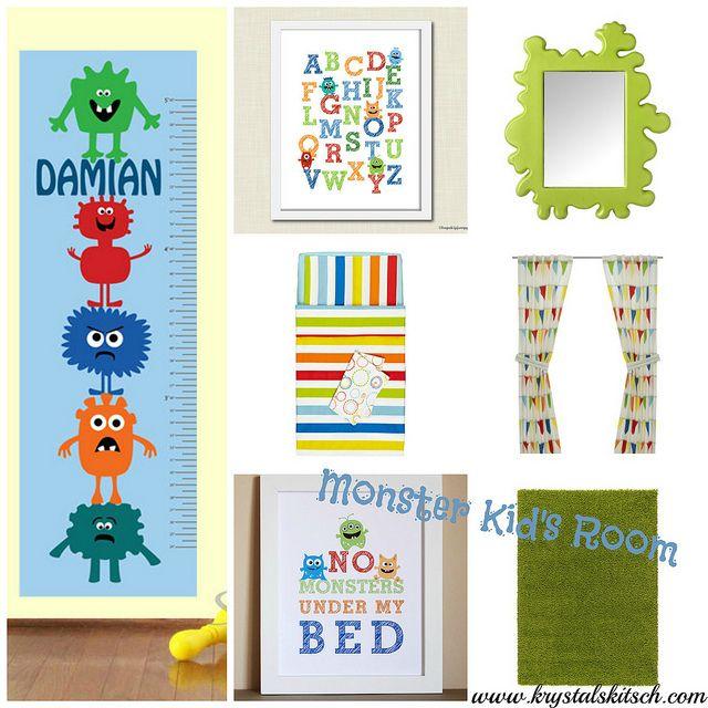 Monster Nursery Inspiration by krystalskitsch, via Flickr