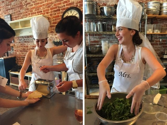 Love the idea of a cooking class for a bachelorette party activity!