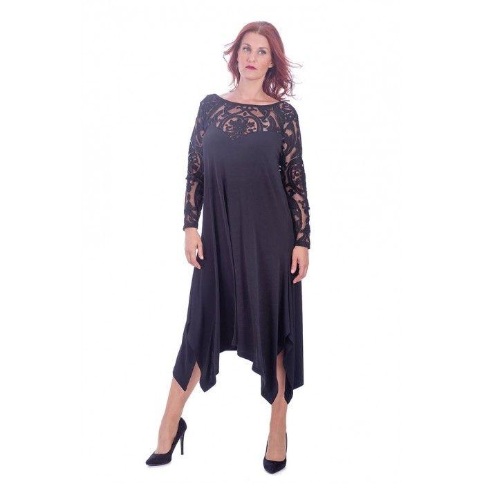 Φόρεμα διαφάνεια ζέρσεϋ | Σύνθεση : Πολυέστερ-Σπάντεξ