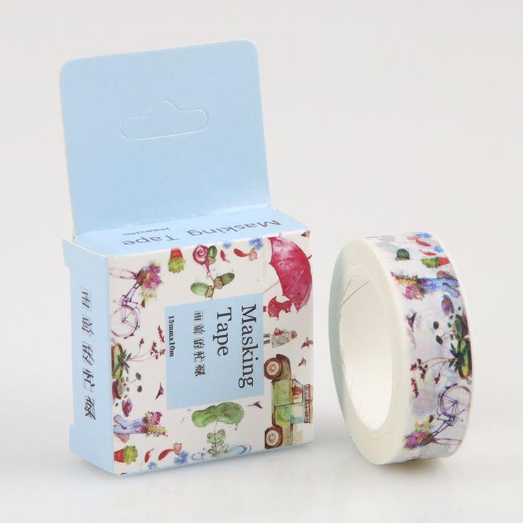 1 Stk/pak 1.5 cm Breed Drukke Dag Voordat De Regen Washi Tape Diy Scrapbooking Sticker Label Afplakband School Office Supply in [xlmodel]-[custom]-[25671]beschrijving specificaties:  materiaal: En papier Item grootte: Ca. 10 m* 15mm  Item gewicht:  van kantoor plakband op AliExpress.com | Alibaba Groep