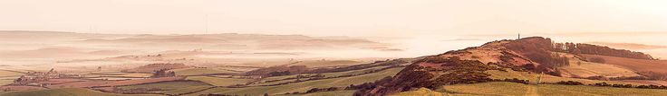 """South Wight Panorama, Isle of Wight  The """"Back of the Wight"""" as they call it, with early spring mist just after sunrise. The vantage point of St Catherine's Down offers excellent views over South Wight and beyond to Chillerton and Bowcombe.  For more check out my website at david Bridgwater photography  Camera Nikon D800/Lee Filters  Tripod and head: Legs Manfrotto MT055CXPRO3  Head Manfrotto MHXPROBHQ2  Landscape Photographer: David Bridgwater…"""