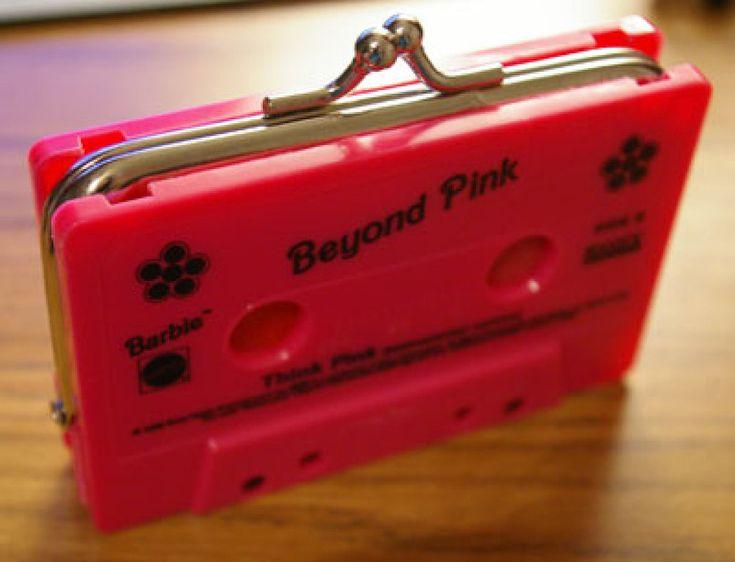 Ideas para reciclar cintas de cassette: ¡Monederos retro!