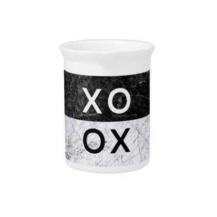 XO XO DRINK PITCHER - minimal gifts style template diy unique personalize design