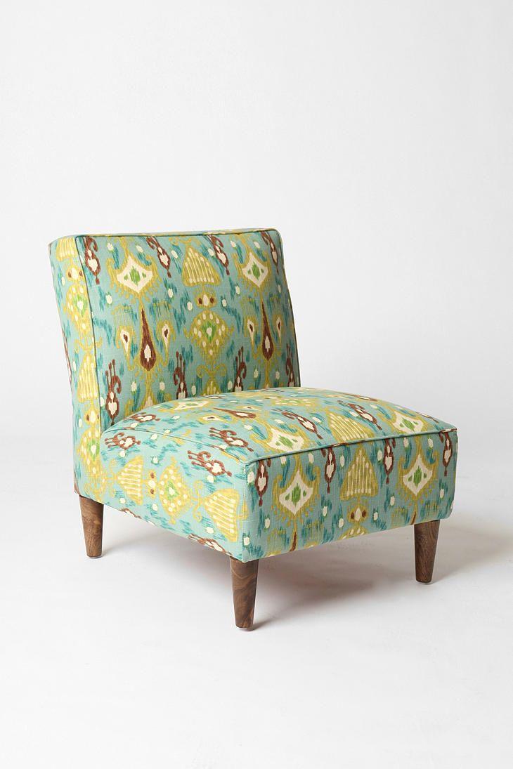 Furniture swivel and tub chairs dori fabric swivel cuddle chair - Slipper Chair Peacock Ikat