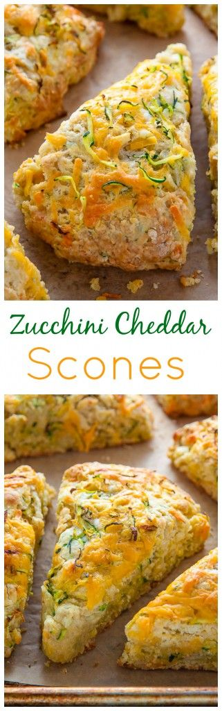 My favorite savory scone recipe loaded with sharp cheddar cheese and fresh zucchini! Who knew veggies could taste this good!?
