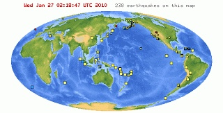 Plot earthquake data points and watch the tectonic plates form.