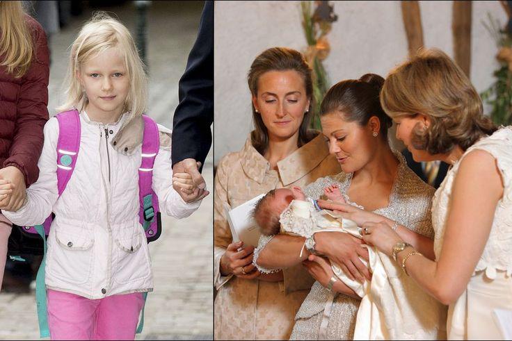 VICTORIA DE SUÈDE, LA REINE DES MARRAINES   La princesse Éléonore de Belgique, fille du roi Philippe et de la reine Mathilde.