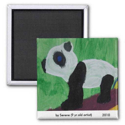 Panda Kids Art Magnet #savethedate