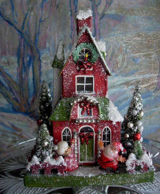 Putz house | FUN CHRISTMAS | Pinterest
