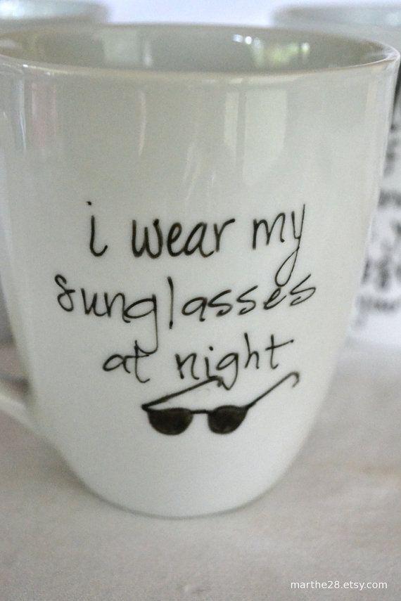 I like the idea of song lyrics on my mugs.