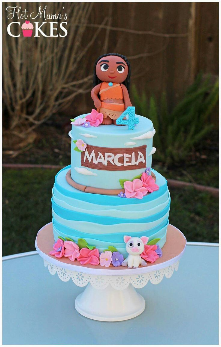 Moana Pua Birthday Cake