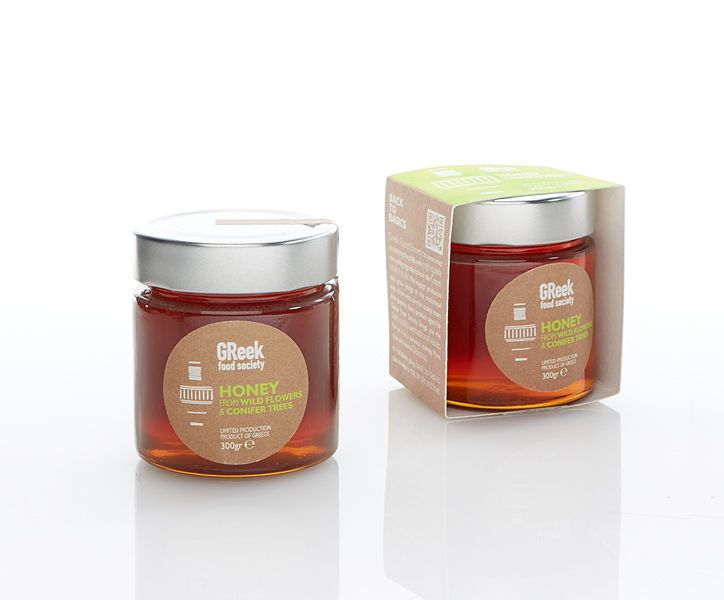 Greek Food Society  Pure Honey from wild flowers & Conifer Trees