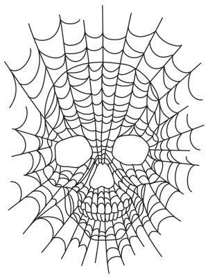 Cráneo Spiderweb | Temas Urbanos: único e impresionante de diseños de bordado