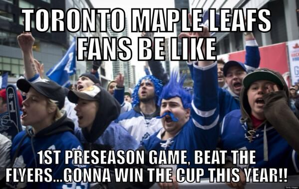 Plan the Parade, Leafs Nation! First hate meme of the season!