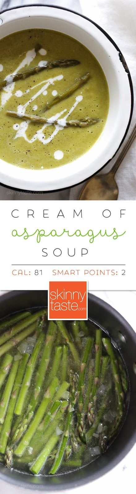 Cream of Asparagus Soup – 5 ingredients, less than 20 minutes to make!