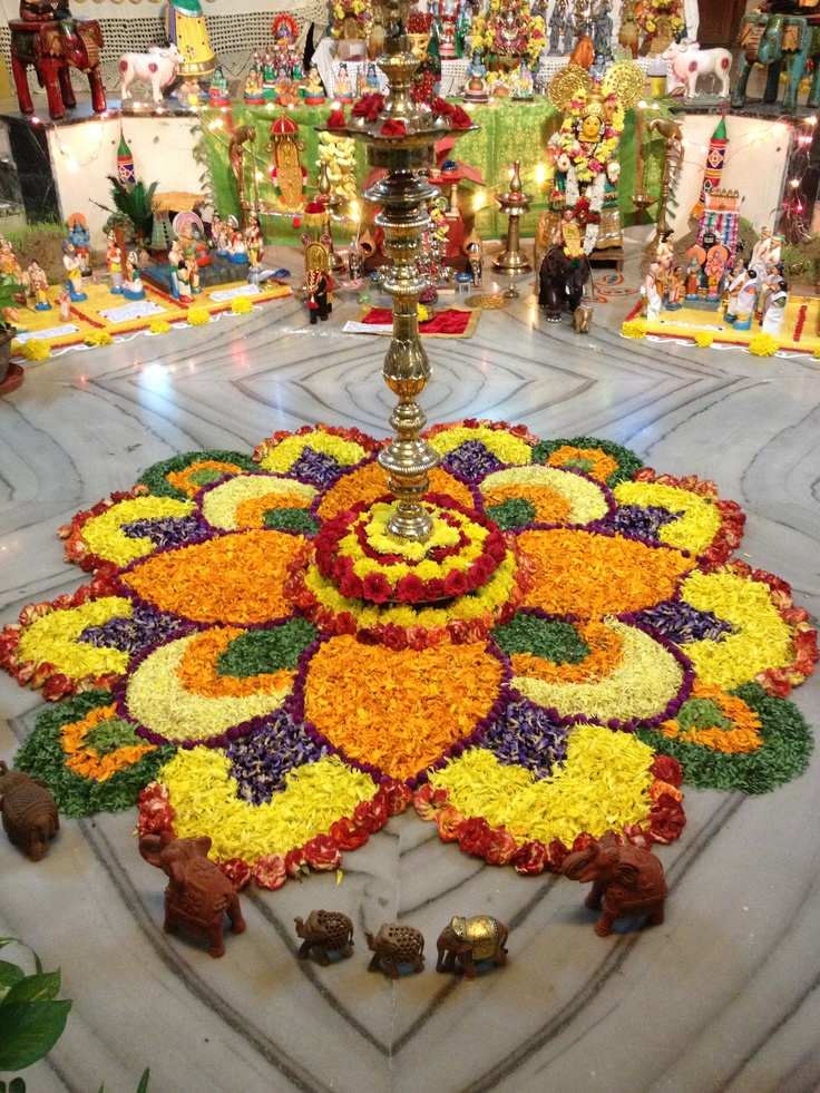 Golu special floral decoration grubstake pinterest for Decoration photos