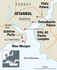 Map of Istanbul, Turkey