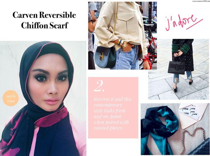 StyleMemo : Carven Reversible Chiffon Scarf – Le Journal Numero102