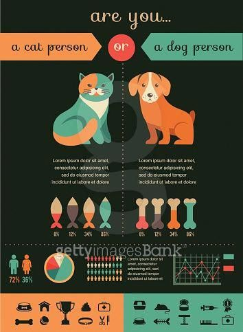 Cat and dog infographics with vector icons set #cattraining