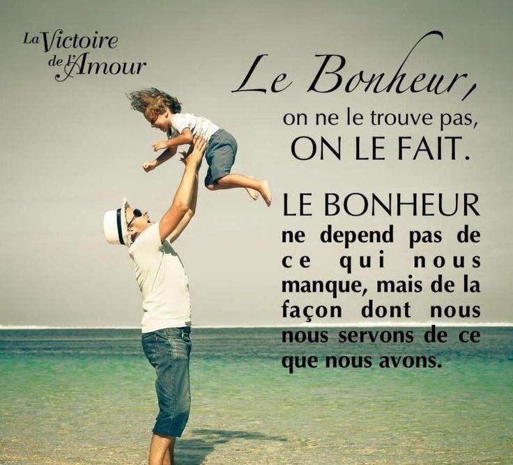 Le Bonheur, on ne le trouve pas, on le fait. #citation #citationdujour #proverbe #quote #frenchquote #pensées #phrases #french #français