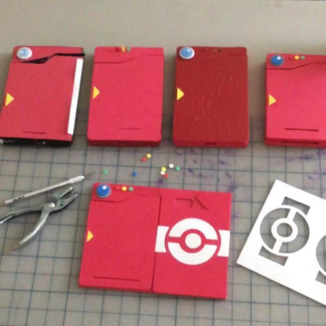 Prototypes 1 through 4.5. #pokedex #PokemonGo #Pokemon #craft #maker #handmade pre-sale coming soon - watch for the preorder post coming later tonight!