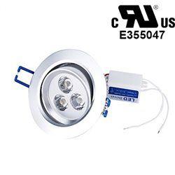 3W LED Aluminum Ceiling Light Fixture White Pendant Lamp Lighting