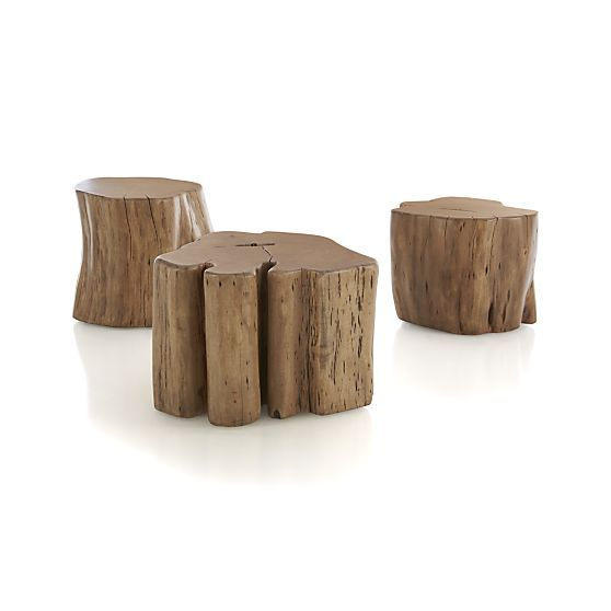 teton natural solid wood accent table pinterest trees cross section and stump table. Black Bedroom Furniture Sets. Home Design Ideas